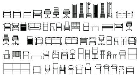 libreria dwg librer 237 as de bloques autocad sillas en alzado frontal
