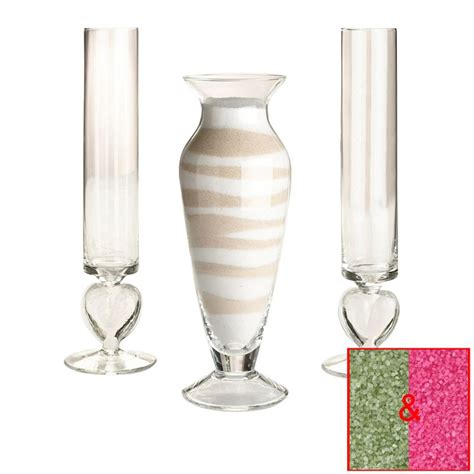 Sand Ceremony Vases by Set Of 3 Wedding Ceremony Glass Unity Vase With 2