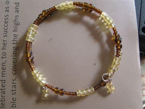 Handmade Memory Wire Bracelets - quot goldenrod quot handmade memory wire bracelet