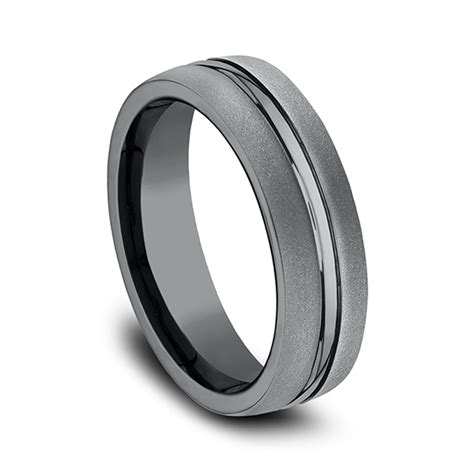 Wedding Bands Ta by Tantalum Comfort Fit Design Ring Eucf565411 Wedding