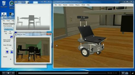 studio four microsoft robotics developer studio 4 beta gets kinected