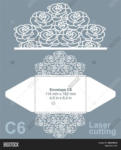 vector die cut envelope template vector photo bigstock