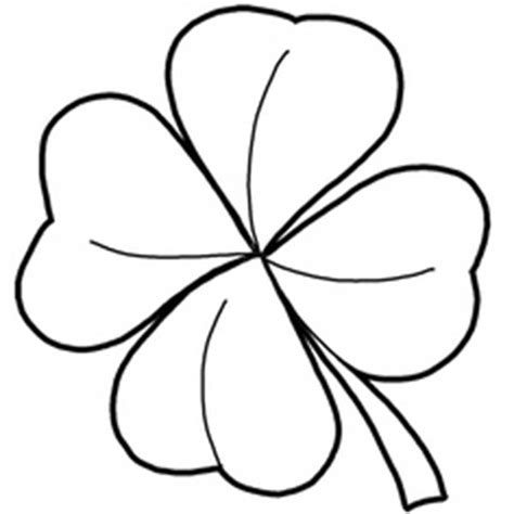 coloring pictures 4 leaf clovers four leaf clover coloring page clipart best