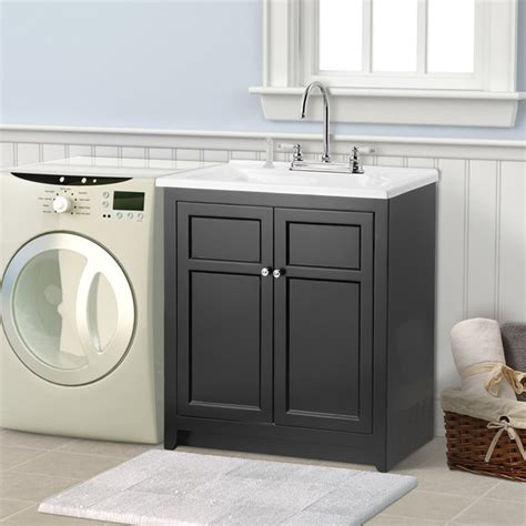 laundry room sink with cabinet contemporary laundry room
