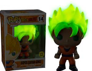 Dragon ball z super saiyan goku glow pop vinyl figure popcultcha