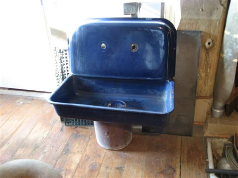 cobalt blue kitchen sink found objects of industry