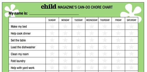 best chore chart for chore chart templates