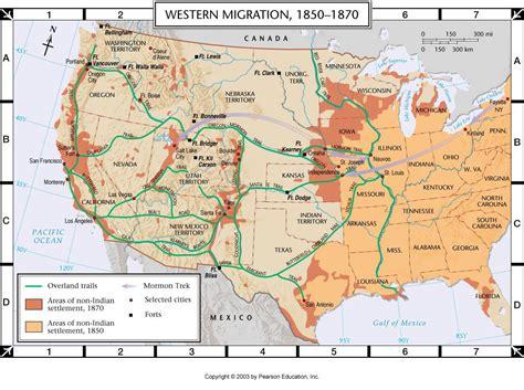 map of oregon trail 1850 atlas map western migration 1850 1880
