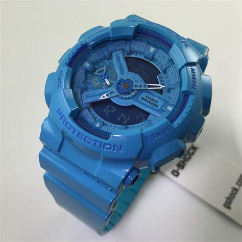G Shock Blue s blue casio g shock s series gmas110cc 2