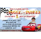 Zatart Invitaciones De Cumplea&241os Cars Para Angel Andres Castillo