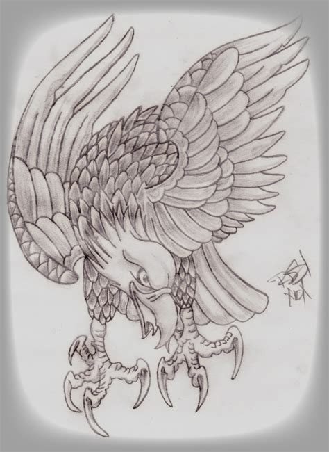 eagle tattoo flash artwork