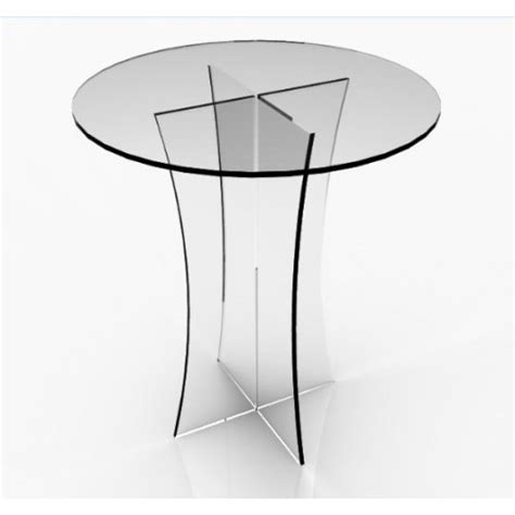 Clear Acrylic Dining Table Fixture Displays 174 Clear Plexiglass Lucite Acrylic Dining Tradeshow Table 29 Quot Diameter X