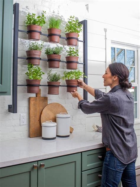 kitchen herb garden interior designs home joanna gaines on fixer upper with her herb kitchen rack