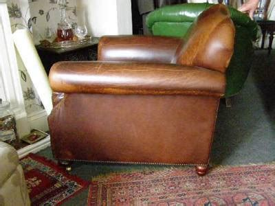 laura ashley leather armchair large vintage laura ashley brown leather armchair chair