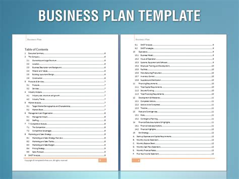 templates for business plan business plans sles myideasbedroom