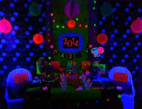 themed party lights neon new years new year s quot neon new years party black