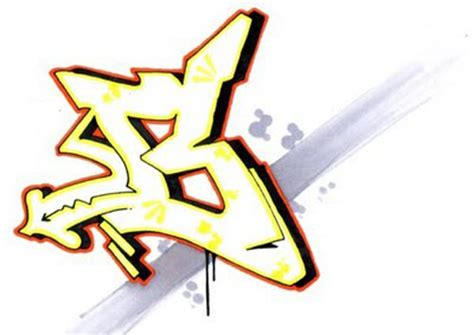 graffiti letter b graffity maker