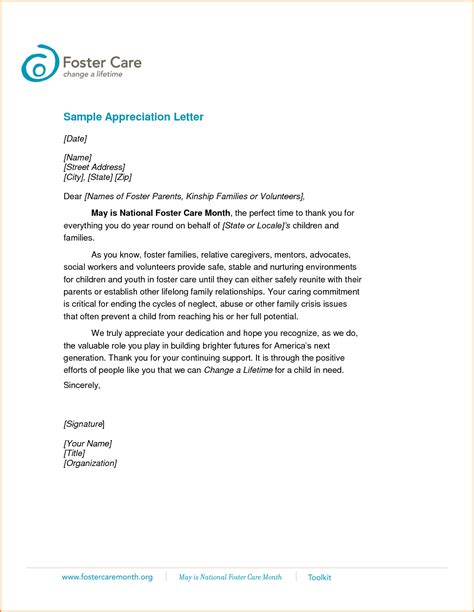sle appreciation letter to the appreciation letter to my 28 images volunteer