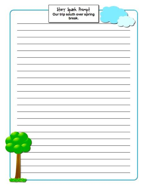 classroom freebies spring creative writing printables