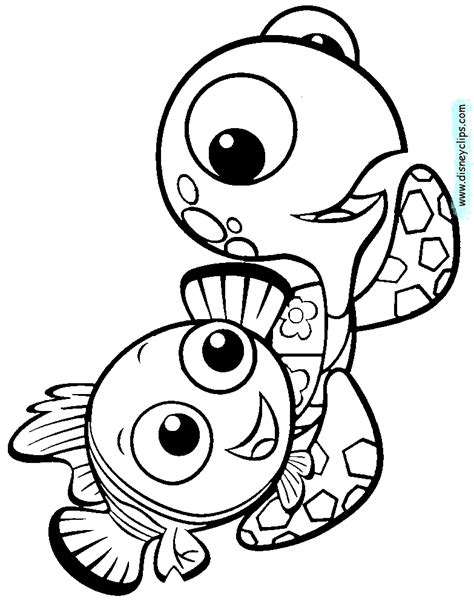 disney pixar finding nemo coloring pages disney coloring