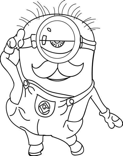 Minion Coloring Pages Best Coloring Pages For Kids Coloring Pages To Print For Free