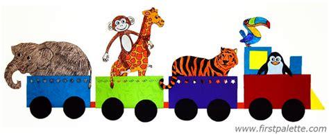 Zoo Animal Wall Stickers animal train craft kids crafts firstpalette com