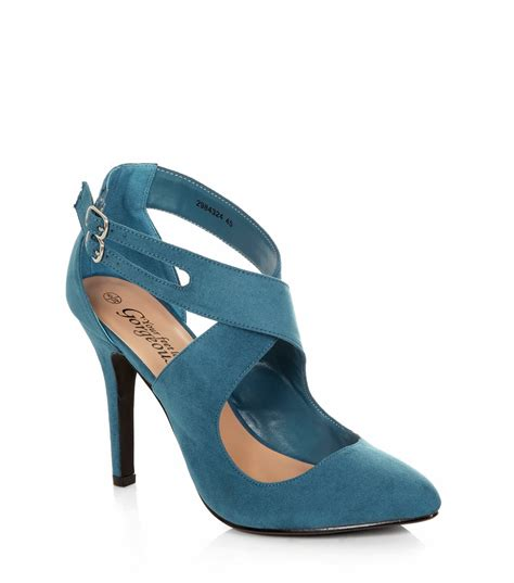 new look shoes for frumpy to funky dressing in top to toe teal