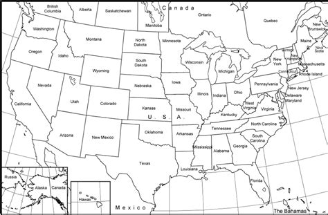 Map Of The United States To Print Out | blank map of the united states to print images