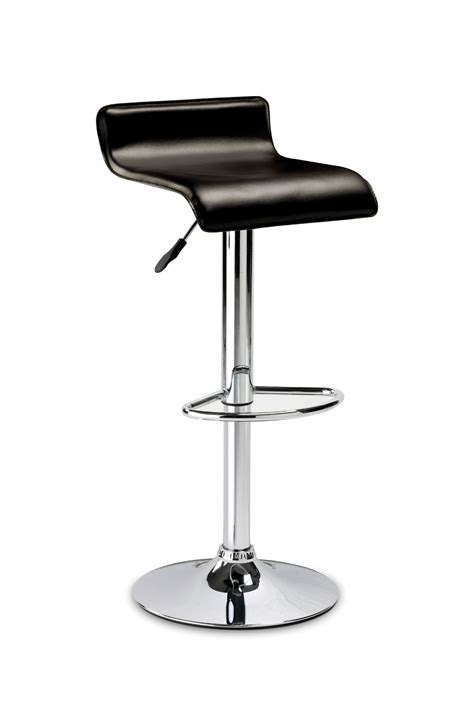 Brown Faux Leather Stool by Sicily Brown Faux Leather With Chrome Stool Jb533