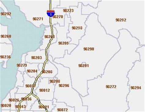 zip code map everett wa the seattle times census 2000