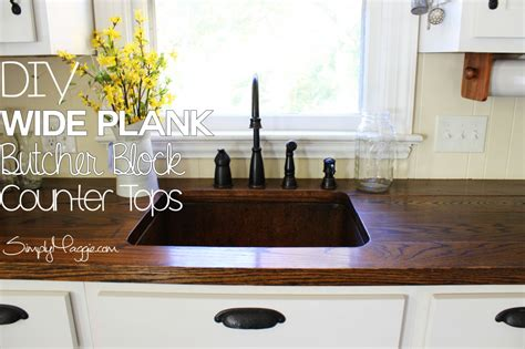 diy wide plank butcher block counter tops simplymaggiecom