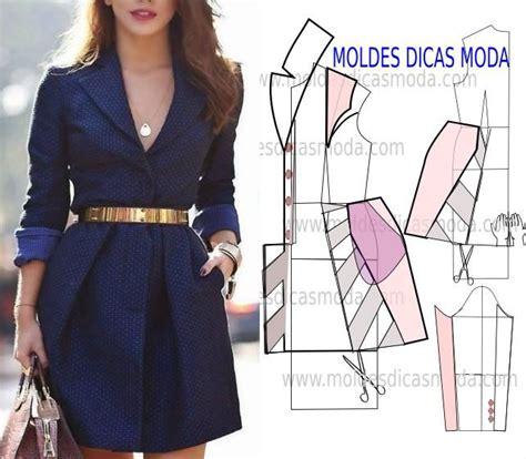moldes e dicas molde de casaco descontra 205 do sewing patterns patrones