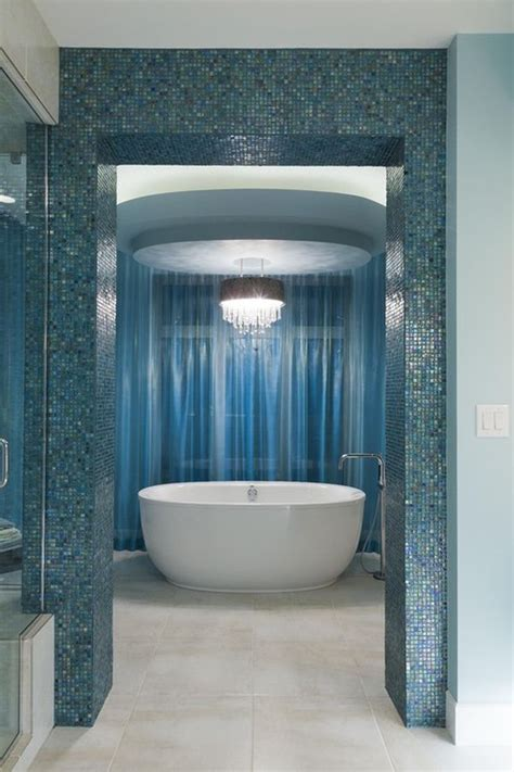 Blue Tile Bathroom Ideas 40 Blue Bathroom Wall Tile Ideas And Pictures