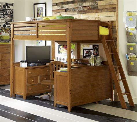 Bunk Bed With Office 54 Lofty Loft Room Designs
