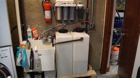 fish room water change system saltwater aquarium automatic water changer and mixer station