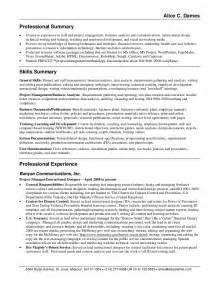 Resume Summary For A Exle Of A Resume Summary For Customer Service Summary For Resume Exles Customer