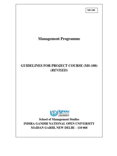 Ignou Mba Ms 100 Result by Ignou Mba Assignments Front Page