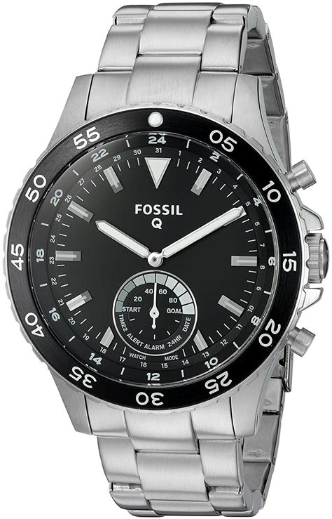 Fossil Smart Fs0100 White Silver fossil q crewmaster 2 hybrid silver stainless steel smartwatch new