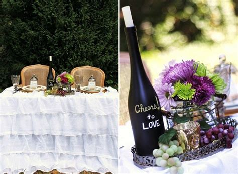 ideas for a wine themed wedding celebrations at home