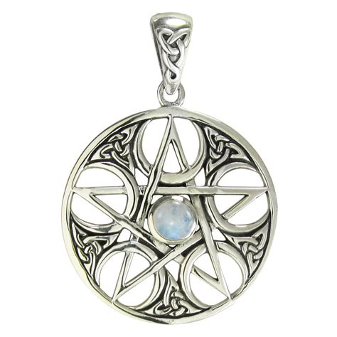 celtic jewelry pagan jewelry wiccan and goddess jewelry sterling silver celtic knot pentacle pendant with