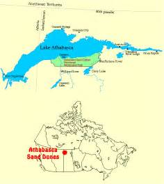 athabasca sand dunes northern saskatchewan canada map