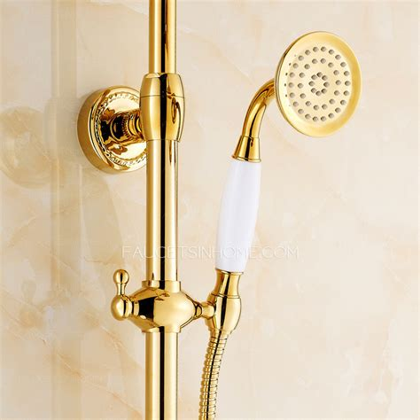Antique Gold Faucets by Antique Gold Outdoor Shower Faucet With Top Shower