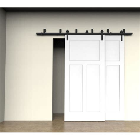 Bypass Barn Door Track Bypass Sliding Barn Door Hardware Track Kit Steel Closet Doors Patio New