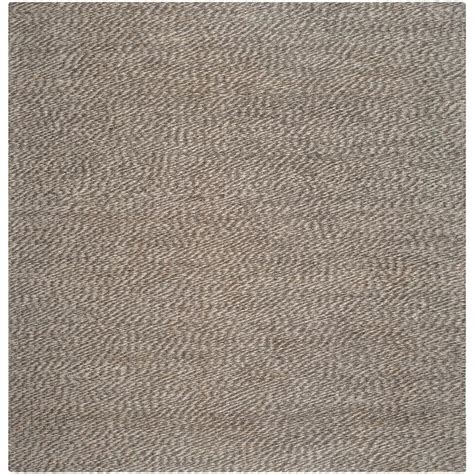 8 x 8 square area rugs safavieh fiber grey 8 ft x 8 ft square area rug nf448a 8sq the home depot