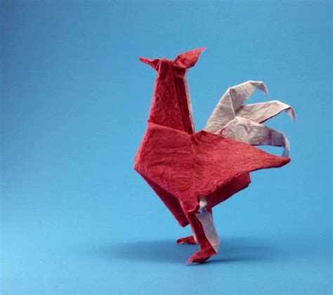 Origami Rooster - pheasant montroll gilad s origami page