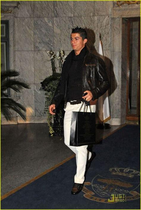 c style nice fashion displayed by cristiano ronaldo leather