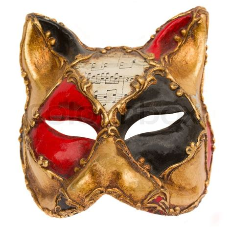 Masker Vienna Di Indo classical venetian carnival mask isolated on white