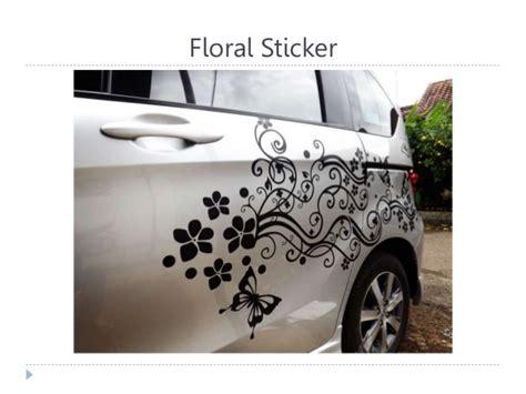 Stiker Mobil Bunga Tribal 0858 7133 6000 indosat desain stiker mobil floral