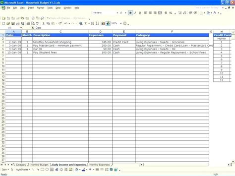 Template Business Monthly Budget Template Excel Spreadsheet Business Budget Template