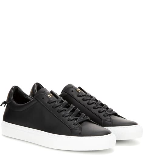 leather black sneakers givenchy knots leather sneakers in multicolor black